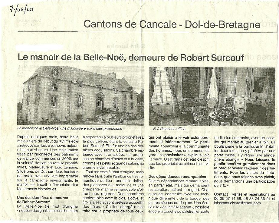 Un article du Ouest-France qui présente le travail de restauration